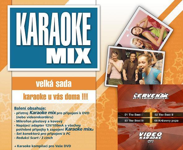 Karaoke maxi set - Cenově zvýhodněná sada 4 kompilací a Karaoke mixu - velké sady.