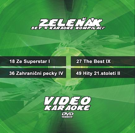 Karaoke set 4 kompilací - Zeleňák - Zvýhodněná nabídka druhé čtveřice v roce 2010 nejprodávanějších karaoke DVD kompilací.