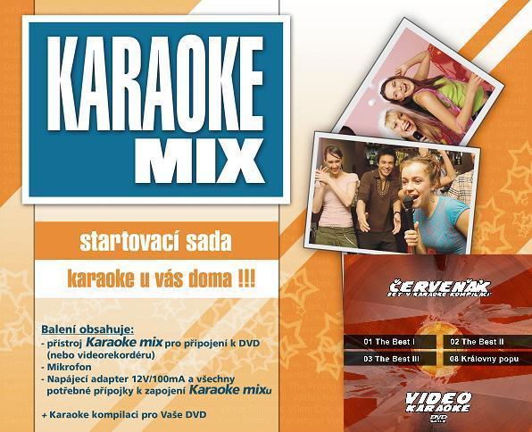 Karaoke startovací sada s Červeňákem - Cenově zvýhodněná sada 4 DVD kompilací a Karaoke mixu - startovací sady.