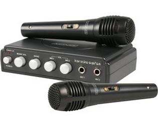 KARAOKE ZÁBAVA: Karaoke mixer Kőnig HAV-KM11 černý