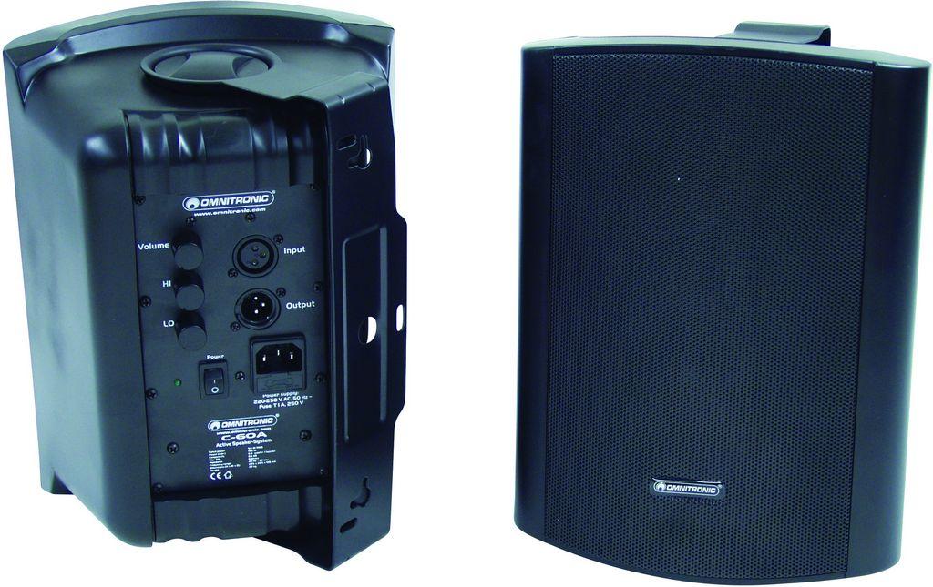 Omnitronic C-60A černé, reproboxy 100W - zadní strana
