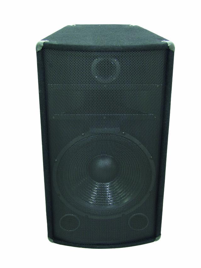 Omnitronic TX-1520, reprobox 350W - pohled zepředu