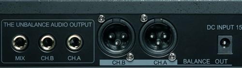Omnitronic VHF-450 - Pohled zezadu na konektory