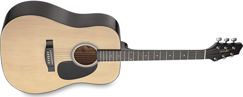 Stagg SW201N, akustick� kytara - pohled z boku