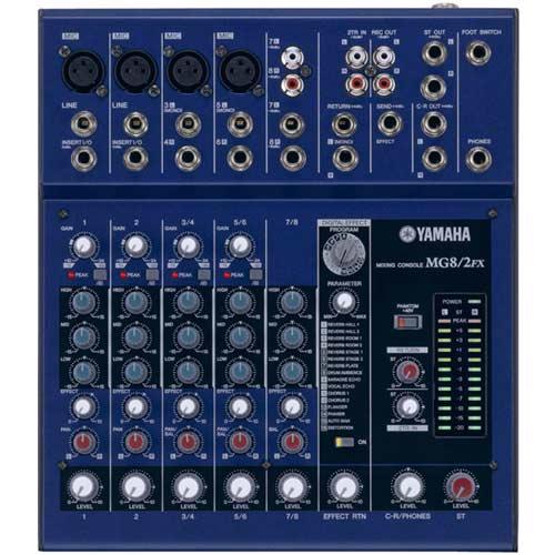 Yamaha MG82CFX - Mixpult 4 mono + 2 stereo vstupy s kompresorem na 1. a 2. mic. vstupu