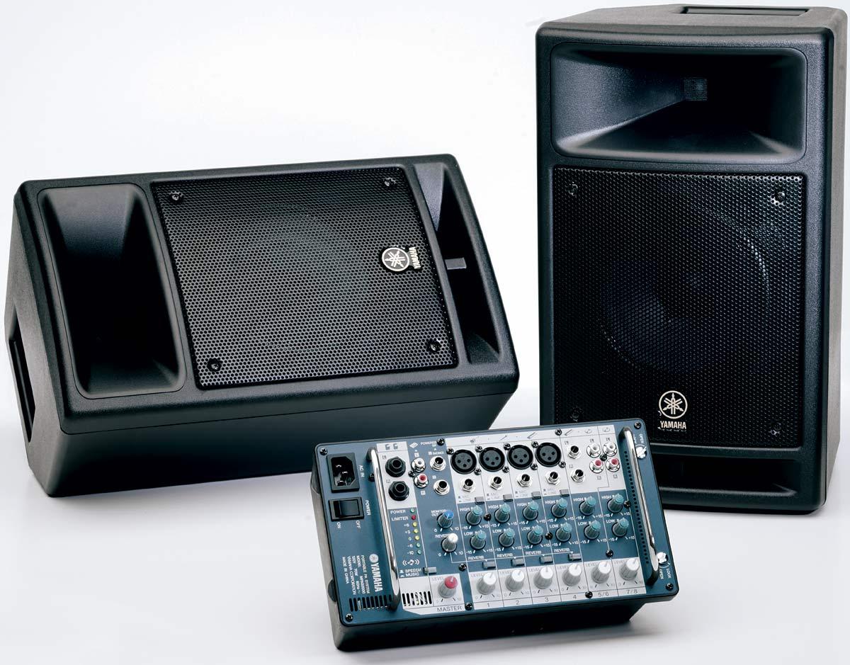 YAMAHA STAGEPAS 300 - Kompletn� ozvu�ovac� syst�m 2x150W, bez stojan�