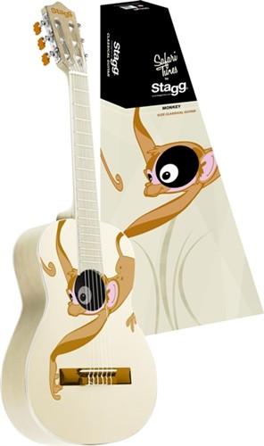 Stagg C530 MONKEY, klasická kytara 3/4 - 3/4 klasická kytara s motivem opice