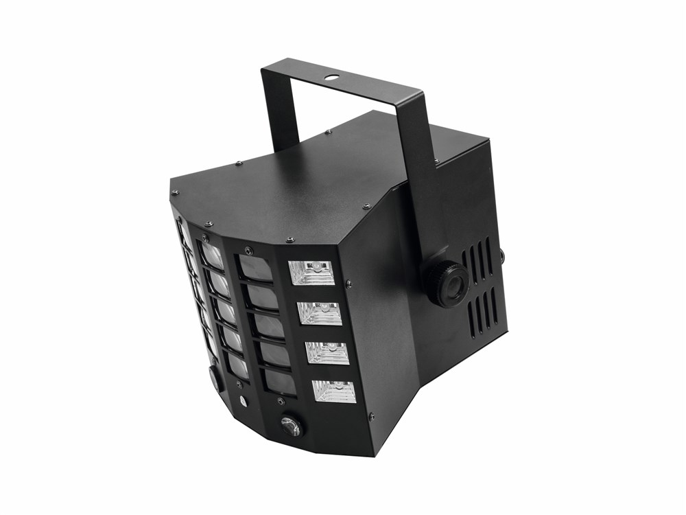 Eurolite LED Gobo Derby Hybrid, paprskový efekt, DMX - Projektor obrazců se strobo a UV efektem